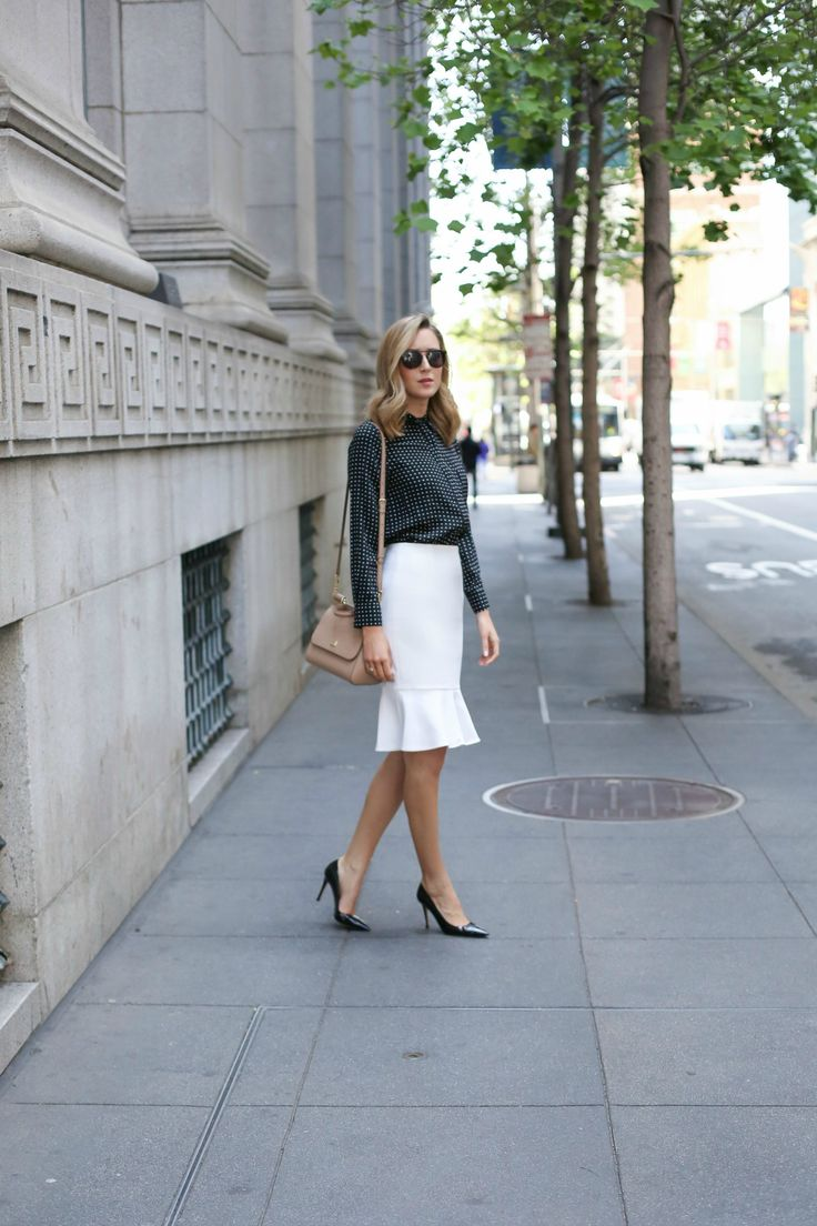 trumpet pencil skirt for work