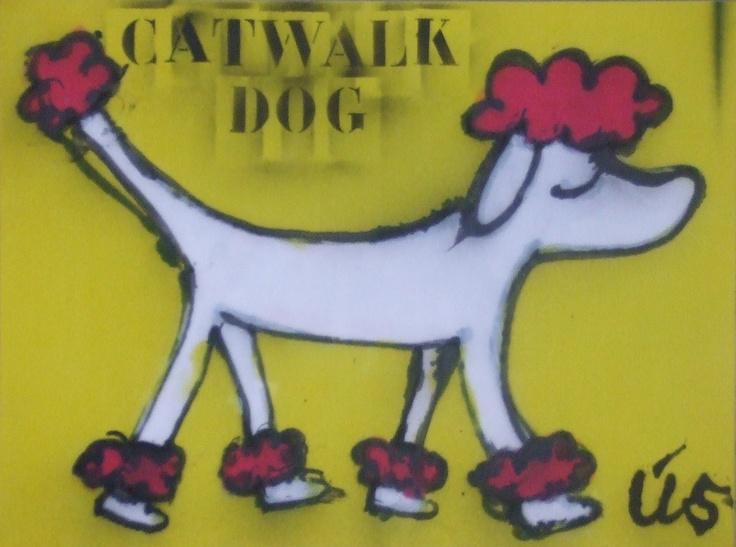 Catwalk dog 60 x 80 cm www.madeby-us.nl