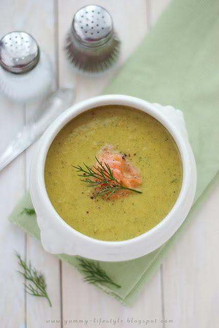 Yummy Lifestyle - Z uwielbienia dla jedzenia.: Krem brokułowo-koperkowy.