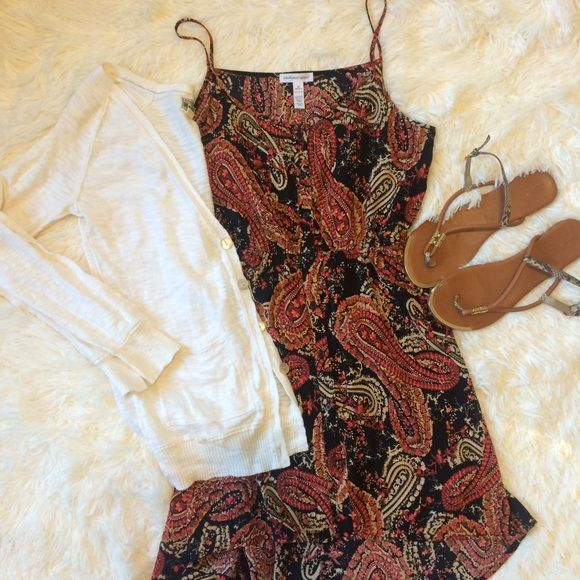 "Coachella high/low dress Very bohemian and flowy! 15"" across chest with a flex waste. From top of shoulder strap front measures 33"" long, back measures 39"" long hipster paisley high low country concerts Dresses"