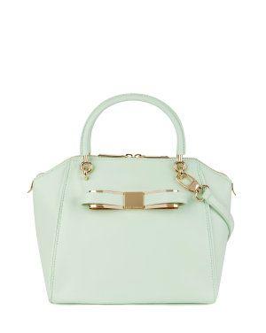 Bow tote bag - BANDOOK - Ted Baker Милейшая сумочка. Очень хорошо смотрится в мятном и оранжевом цвете. Черный тоже очень хорош, если нужно под формальные наряды