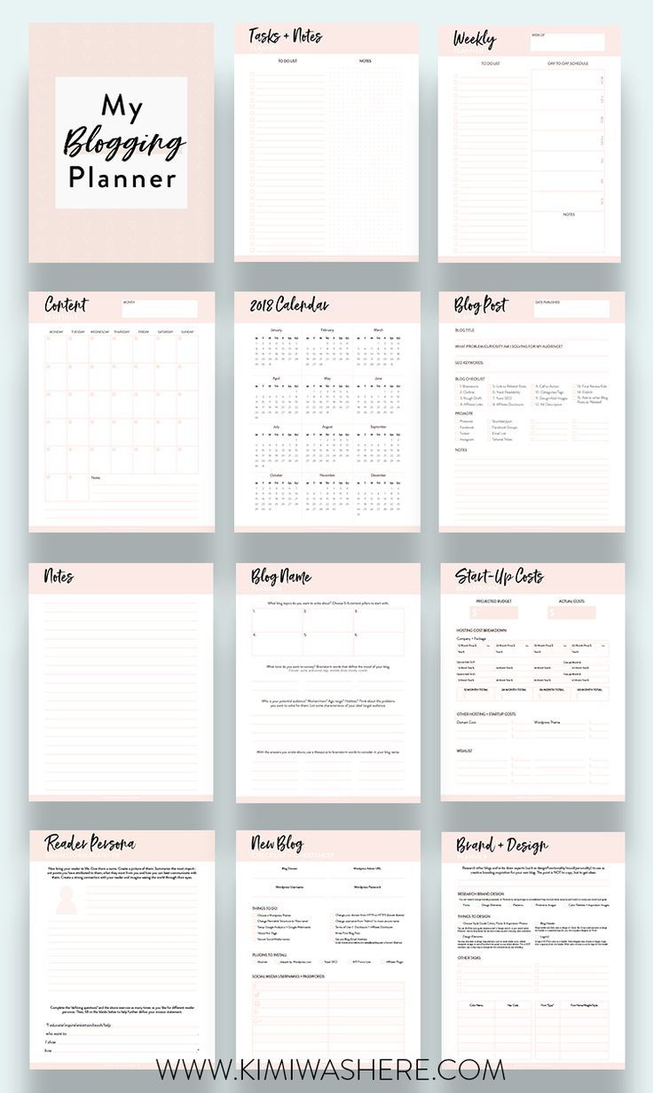 image regarding Printables Blog identified as Cost-free Mini Running a blog Printable Planner Excellent Pointers for Site