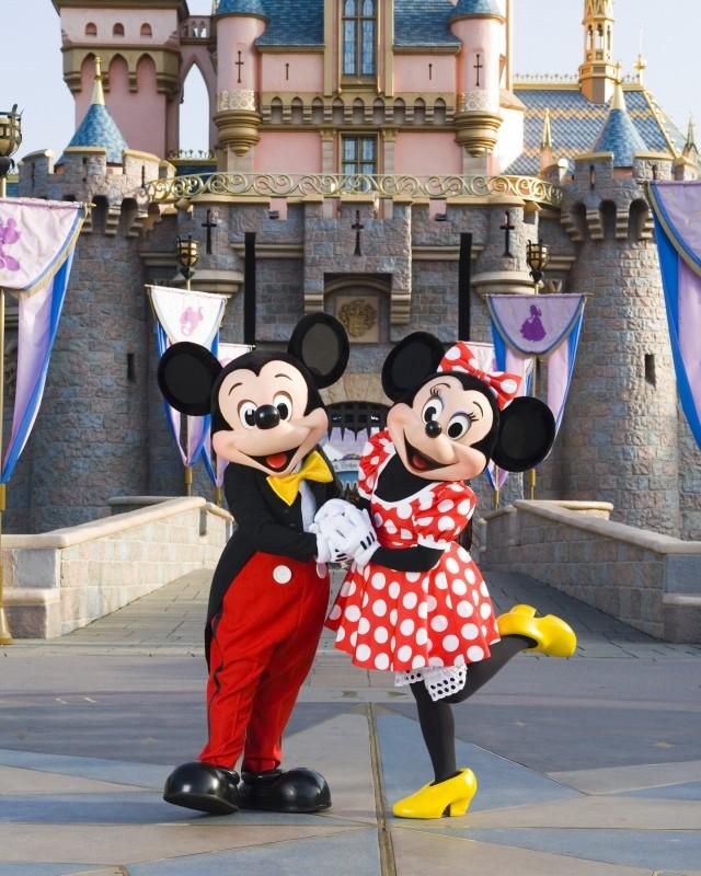 Mickey And Minnie Mouse Costumes At Disneyland | Halloween ...