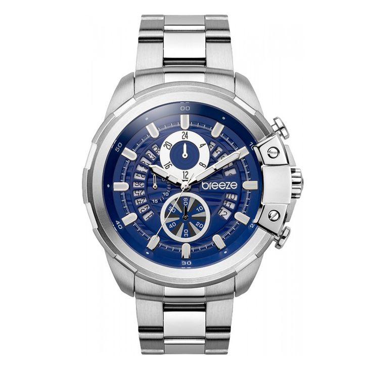 Ανδρικό μοντέρνο αδιάβροχo ρολόι BREEZE 610742.3 Artisan με μπλε καντράν και ατσάλινο μπρασελέ | Ρολόγια BREEZE ΤΣΑΛΔΑΡΗΣ στο Χαλάνδρι #breeze #artisan #μπλε #μπρασελε #tsaldaris