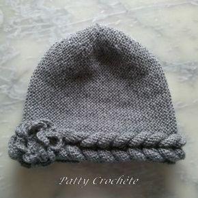Un chouette bonnet facile à faire avec une seule couture. Tutoriel clair et illustré.