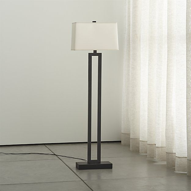 Duncan Antiqued Bronze Floor Lamp | Crate and Barrel