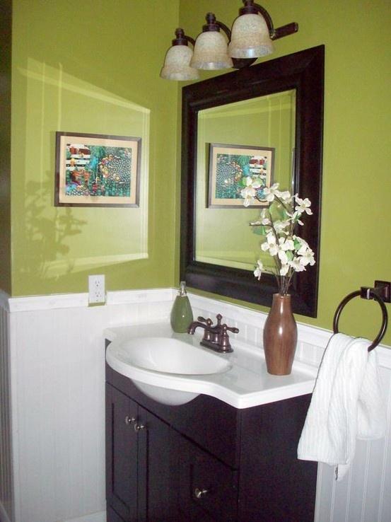 74 best Green \ Brown Decor images on Pinterest Bathroom ideas - green bathroom ideas