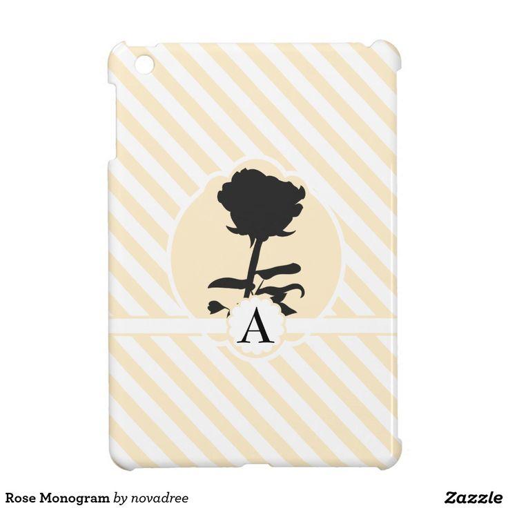 Rose Monogram iPad Mini Covers