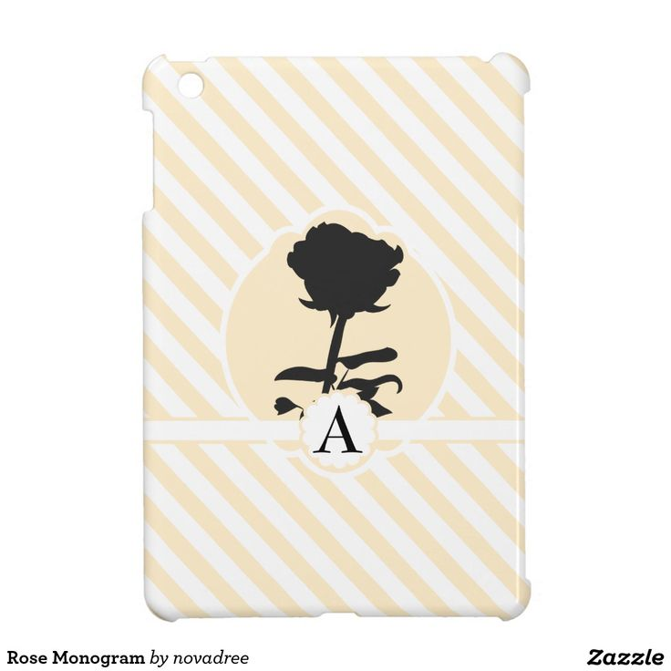 Rose Monogram iPad Mini Covers