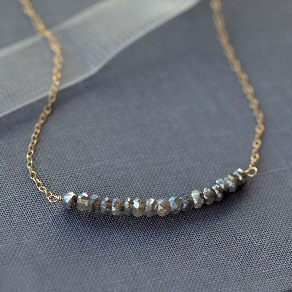 Cloud Burst Necklace Labradorite Gemstone Gold by ShopClementine, $39.00
