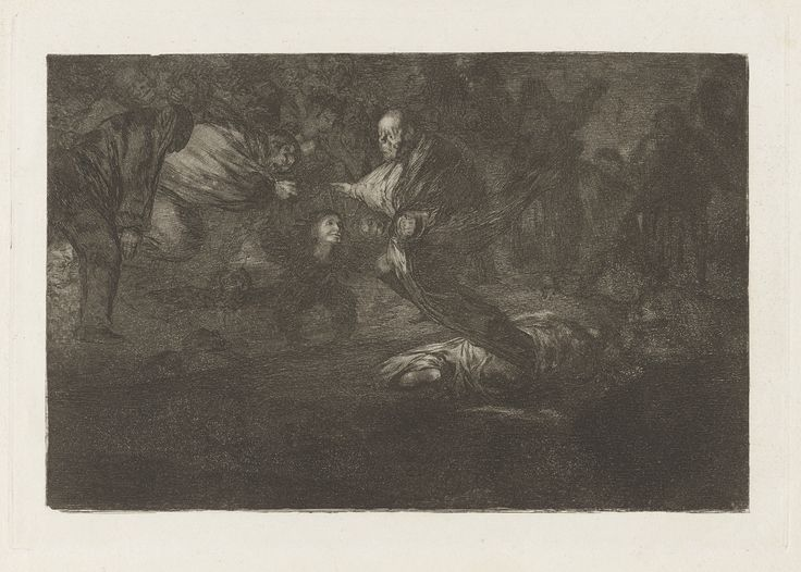 Francisco Goya, Spanish, 1746–1828 Dios los cria y ellos se juntan (God Creates Them and They Join Up Together), from the series Los disparates (Los proverbios)  ca. 1816–19, published 1864 (first edition) Etching, burnished aquatint and burin platemark: 24.5 x 35 cm (9 5/8 x 13 3/4 in.) The Arthur Ross Collection 2012.159.40.19