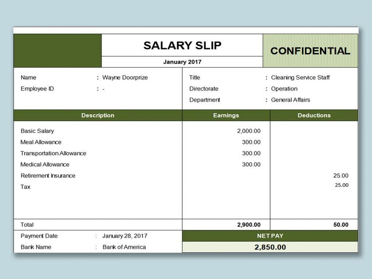 Explore our example of salary payment voucher template