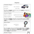 A reference sheet to help remember the difference between the Commutative, Associative, Identity, and Distributive Properties of Addition and Multiplication. $1