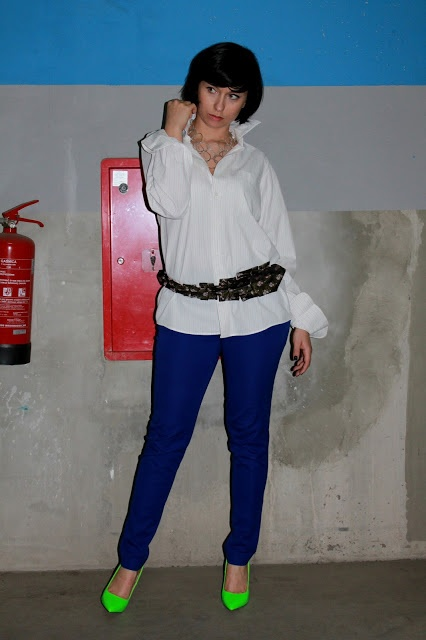 men's shirt Próchnik, trousers H, belt Junky Styling, necklace Bijou Brigitte, shoes DeeZee