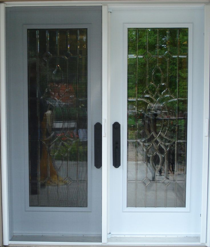 Stained Glass French Doors | Stained Glass French/Garden Fiberglass Doors