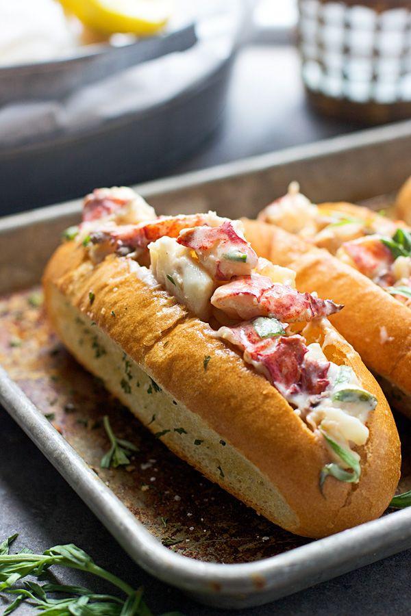 Tarragon and Lemon Lobster Rolls with Garlic Bread Hoagies