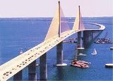 The Sunshine Skyway Bridge connecting Pinellas and Manatee Counties...where Tampa Bay meets the Gulf of Mexico