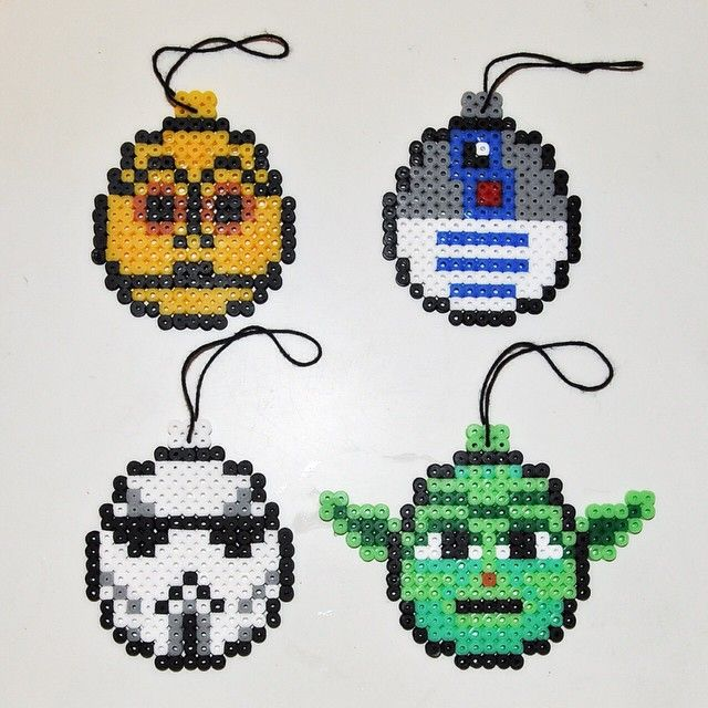 Star Wars Christmas baubles hama beads by mikagard