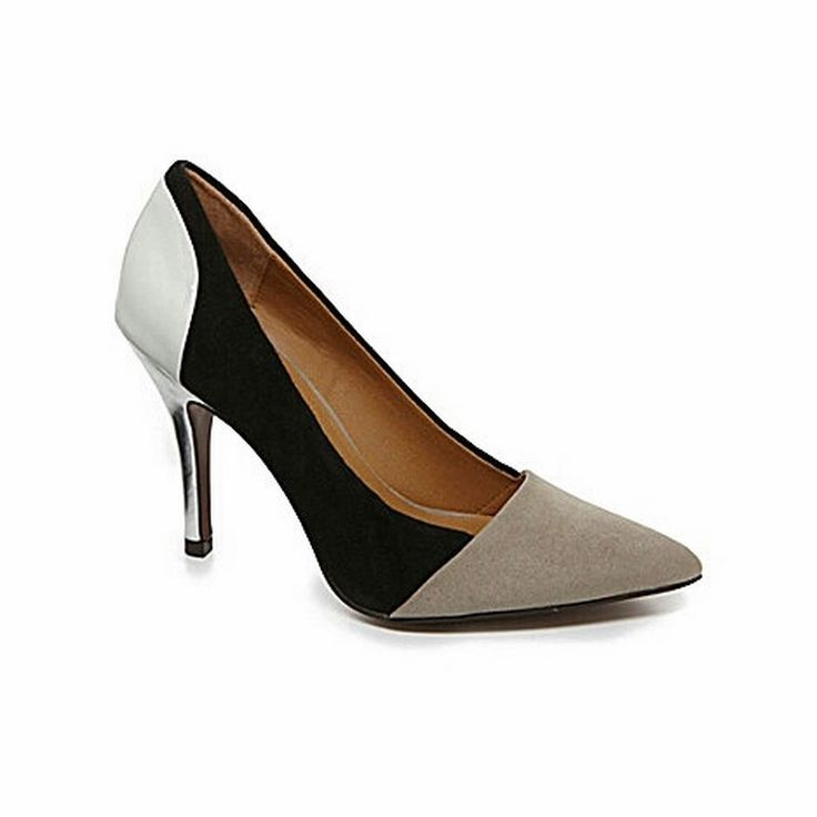 Serendipity Color Block Heel | 27 Boutique The Serendipity Heel from Chinese Laundry. Features on-trend black, white, & grey color blocking.