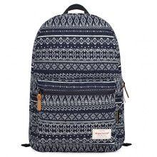EcoCity Unisex Aztec Tribal Style Vintage Fashion School Travel Shoulder Laptop Backpacks Bookbags (Navy- Pattern 1)