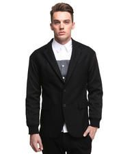 Dropped Shoulder Casual Blazer w/ Contrast Sleeve
