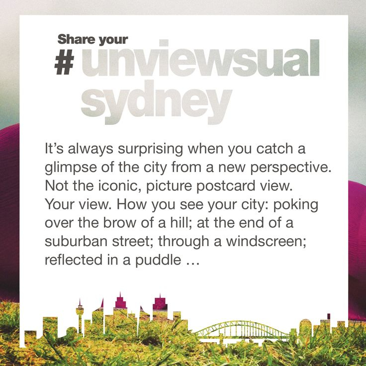 If you enjoy our photos, why not make your own unviewsuals. You don't need to be a professional photographer. All you need to do is to see the skyline - Sydney Tower, aka Centrepoint, has to feature - from your unique perspective; and share your unviewsual take on this great city.