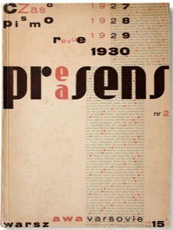 Praesens. No. 2.  STRZEMINSKI, WLADYSLAW. Edited by Szymon Syrkus and Andrzej Pronaszko. Warsaw: 1930.