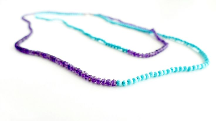 Necklace with Amethyst and Turquoise Price:74€
