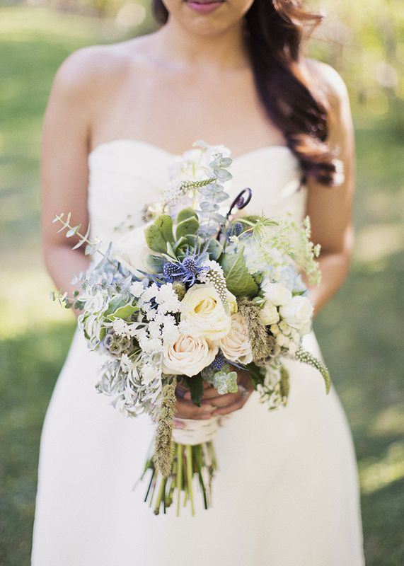 natural wedding bouquet rustic blue and green wedding by branches event floral company my. Black Bedroom Furniture Sets. Home Design Ideas