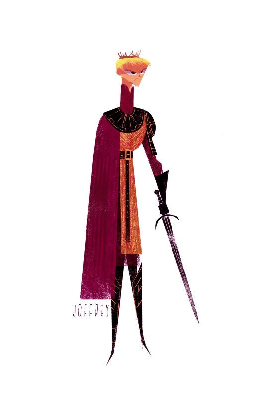 Personajes de Game of Thrones ilustrados
