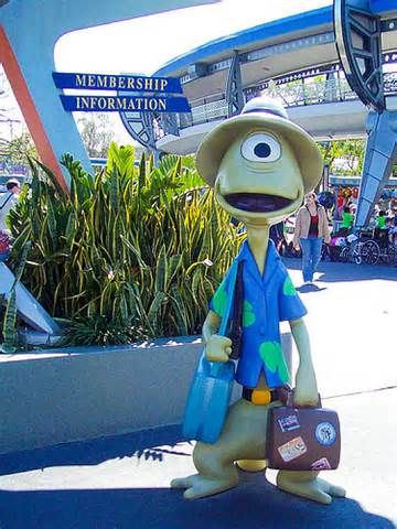 Pleakley from Lilo & Stitch - you can find him in Tomorrow Land at the Magic Kingdom, OH MY GOSH!