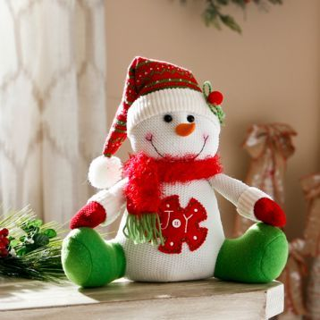 Bring smiles to everyone's faces with our Joy Smiling Snowman Sitter! #Kirklands #HollyJolly #holidaydecor #KirklandsHoliday