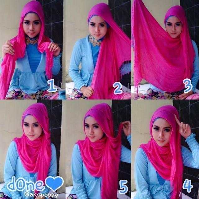 Tutorial Hijab Segi Empat Untuk Hangout