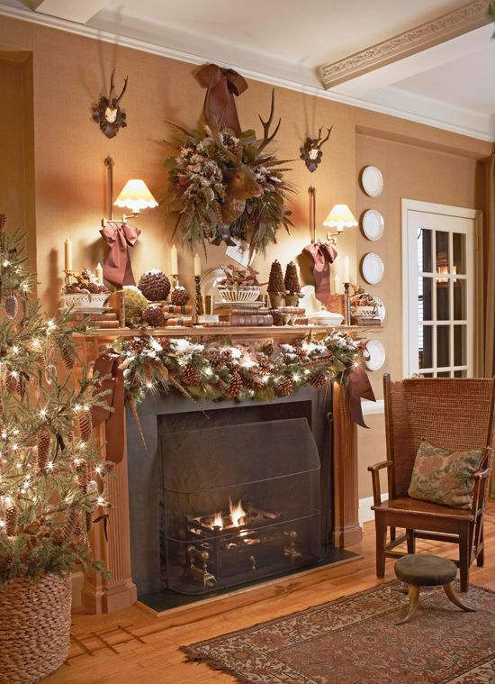 245 best Mantle/Staircase/Garland Decor... images on Pinterest