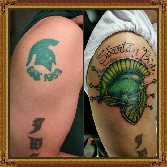 1000 images about msu spartans tattoos on