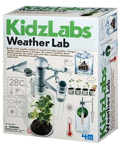 4M KidsLabs Weather Lab Science Kit: Build a mini weather station to record everyday weather changes with this kitConduct experiments to discover the science and facts about climate change, the water