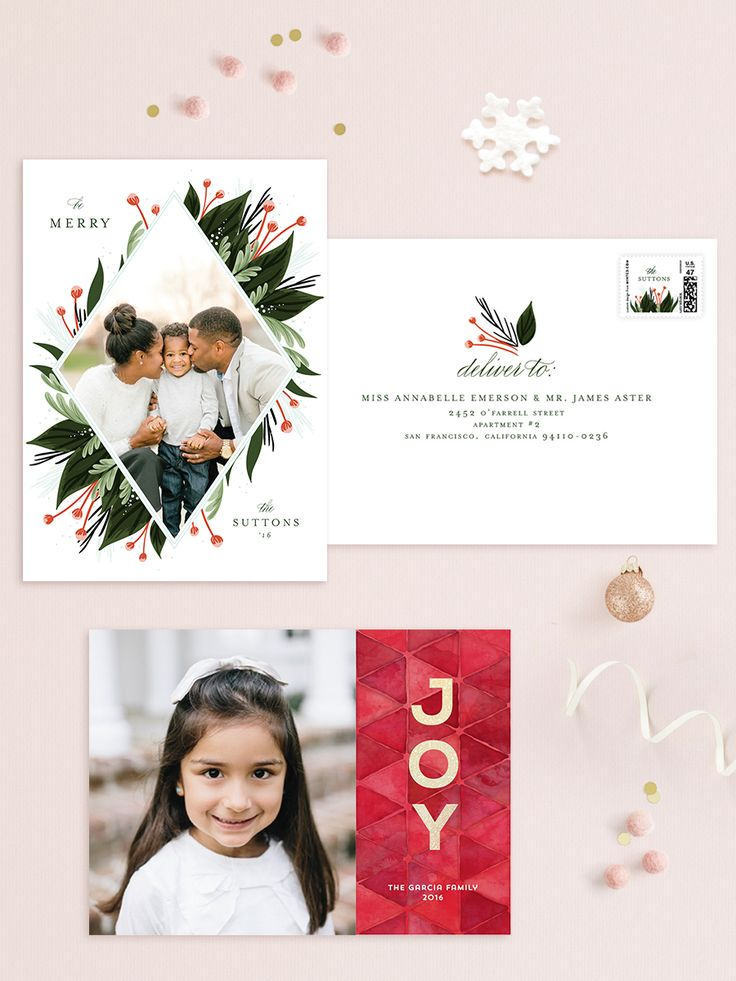 Customizable Holiday Photo Cards. Pick your favorite design from our community of independent artists to complement your own photo.  Shop our 2016 selection today!