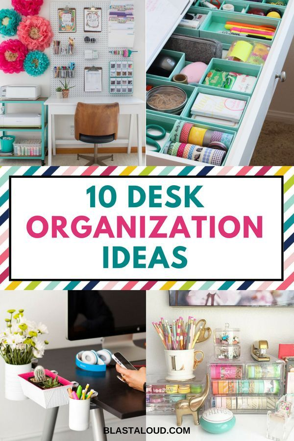 Desk Organization Ideas For A Clean And Decluttered Office With These Desk Organizing Ideas Y Desk Organization Diy Desk Organization Desk Drawer Organisation