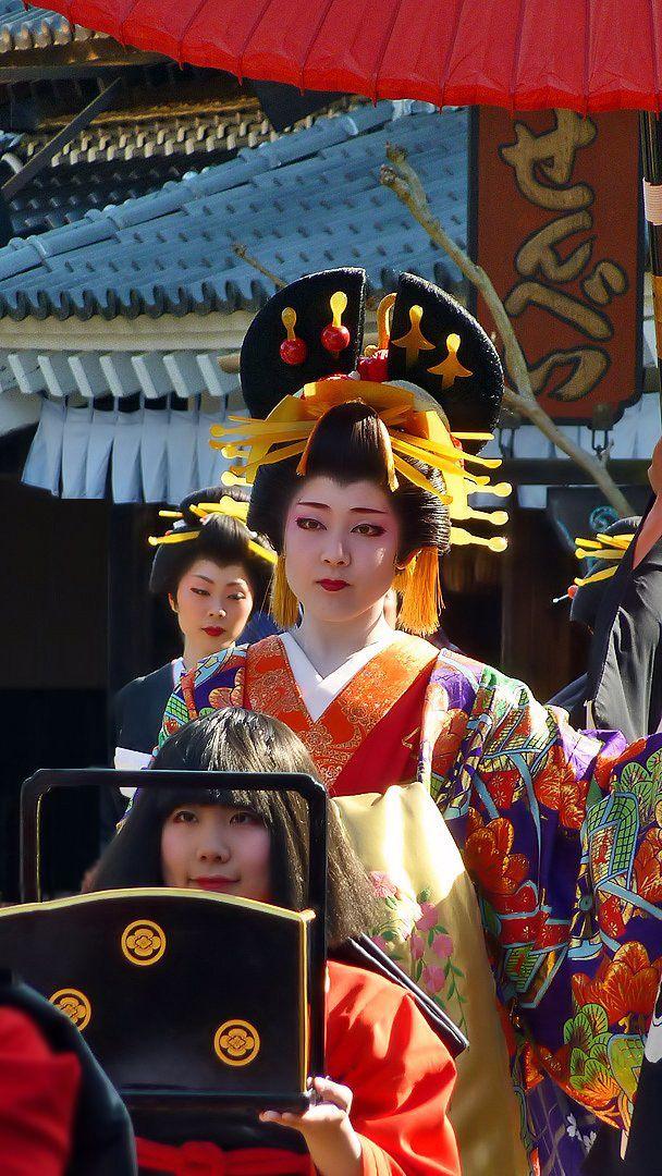 Japan...nikko edo wonderland 花魁 oiran parade