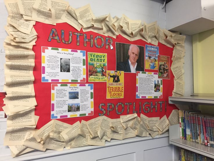 Author Spotlight Library Display