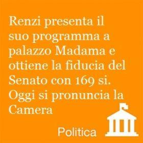 Renzi e il si del Senato Tieniti informato tutti i giorni su www.newdle.it!