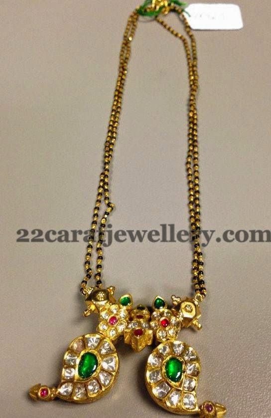 Jewellery Designs: Mangalsutra with Paisley Locket