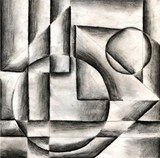 Charcoal Geometric Value Drawing - like this as an art journal activity to start working on blending / charcoal skills