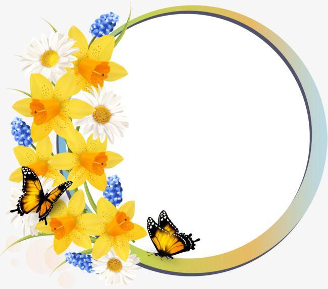 زهرة جميلة الحدود نسيج زهرة ازهار صفراء الاقحوان Png وملف Psd للتحميل مجانا Flower Border Pretty Flowers Flowers