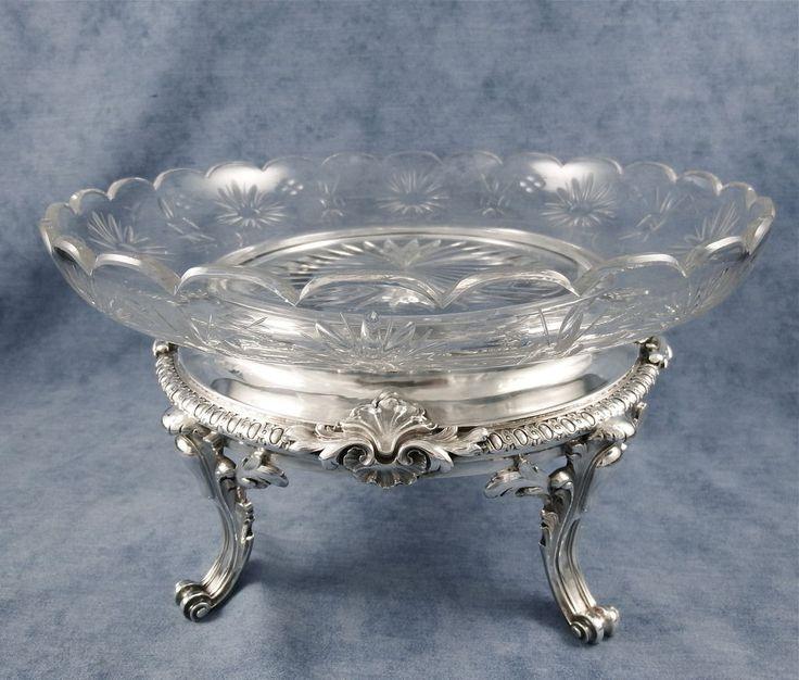 1000 images about antique glassware on pinterest for Centre de table argent
