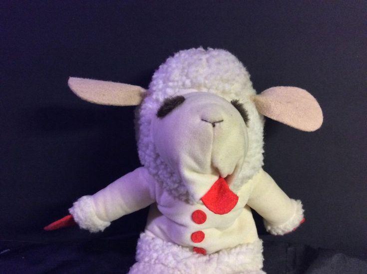 "Vntg Plush Lamb Chop Hand Puppet Shari Lewis Vintage 1992 Plush 16"" #ShariLewisEnterprises"
