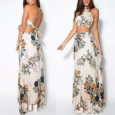 Blossom Floral 2 Piece Crop Top Skirt Set In 2018 Prom Dresses