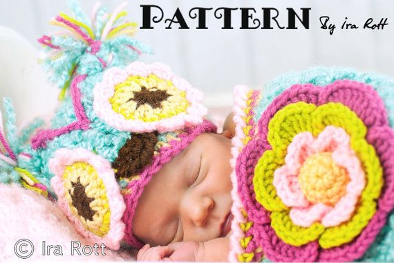 Owl Hat and Cocoon Set for Babies Crochet Pattern  $ 7.50 CAD    Check more patterns at www.irarott.comChunky Flower, Owls Hats, Flower Owls, Crochet Pattern Free, Cocoon Sets, Baby Hats, Baby Crochet Patterns, Crochet Animal Hats, Baby Crafts