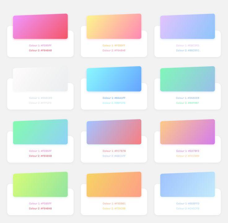 Gradients with color code – Ui kit by ajinkya bhagwat