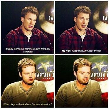 Chris Evans and Sebastian Stan. funny